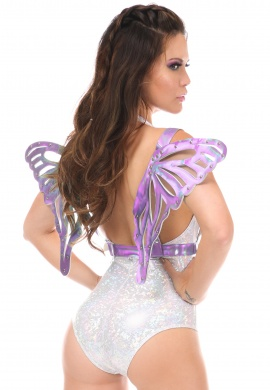 Lavender Holo Winged Harness