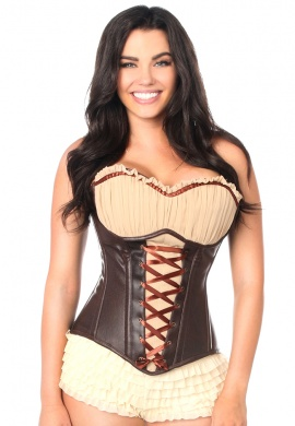 Faux Leather Steel Boned Ren Faire Corset