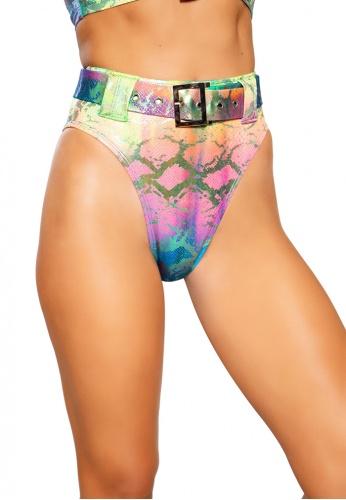 Rainbow Snake Skin High Rise High-Waisted Shorts
