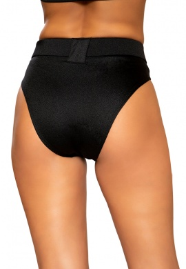 """Black High Rise High Waist Shorts with Belt """