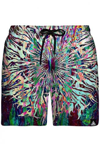 Grime Mandala Swim Shorts
