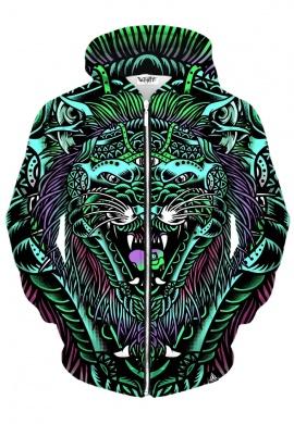 Acid Tiger Zip-up Hoodie