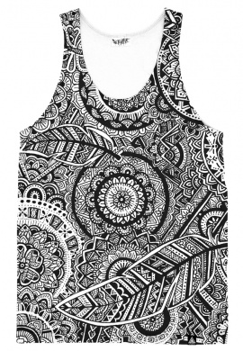 Feather Mandala Tank Top