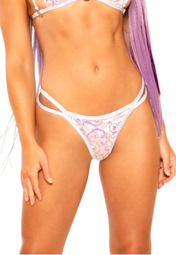 White Prism Strap Bottoms