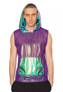 Purple Opal Hooded Top