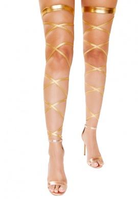 Metallic Gold Leg Wraps