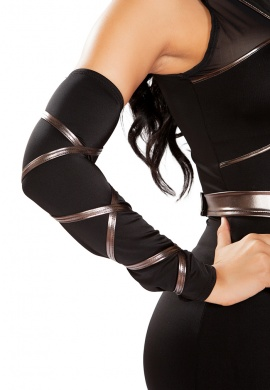 Black Strappy Arm Cuffs