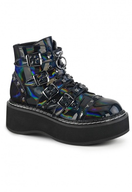 Black Holographic Emily-215 Shoes