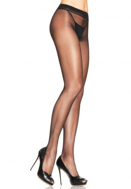 Black Lycra Sheer Waist Support Pantyhose