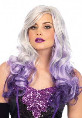 Grey and Purple Allure Wig