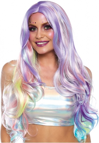 Pastel Rainbow Wavy Wig