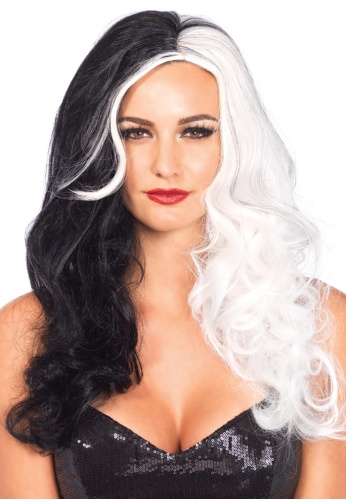 Black and White Two Tone Long Wig