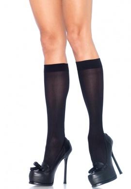 Black Nylon Knee Highs