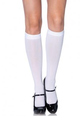 White Nylon Knee Highs