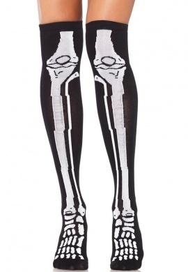 Over The Knee Skeleton Socks