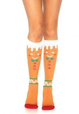 Gingerbread Man Knee Highs
