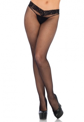 Black Low Rise Micronet Tights