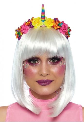 Rainbow Unicorn Flowers Headband
