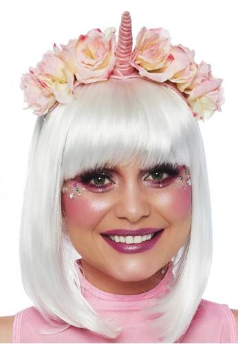 Pastel Velvet Unicorn Flower Headband