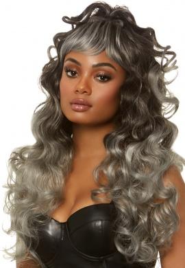 Grey Long Curly Wig