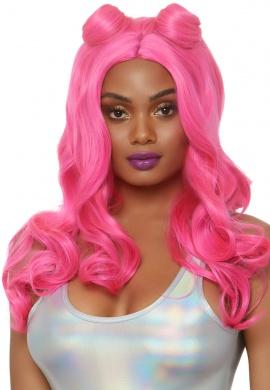 Pink Beach Waves Wig
