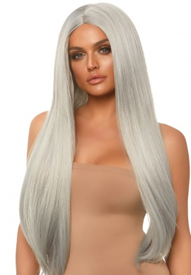 Gray Long Straight Wig