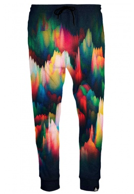 Abstract Wave Joggers