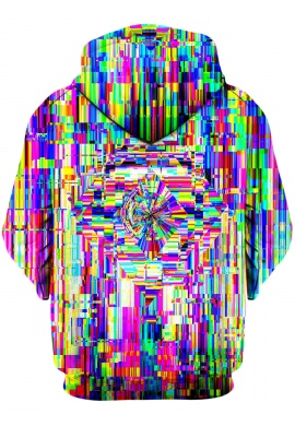 Abstract Glitch Hoodie