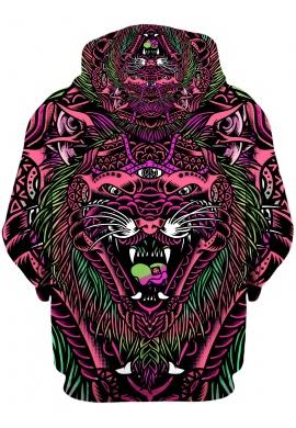 Pink Acid Tiger Hoodie