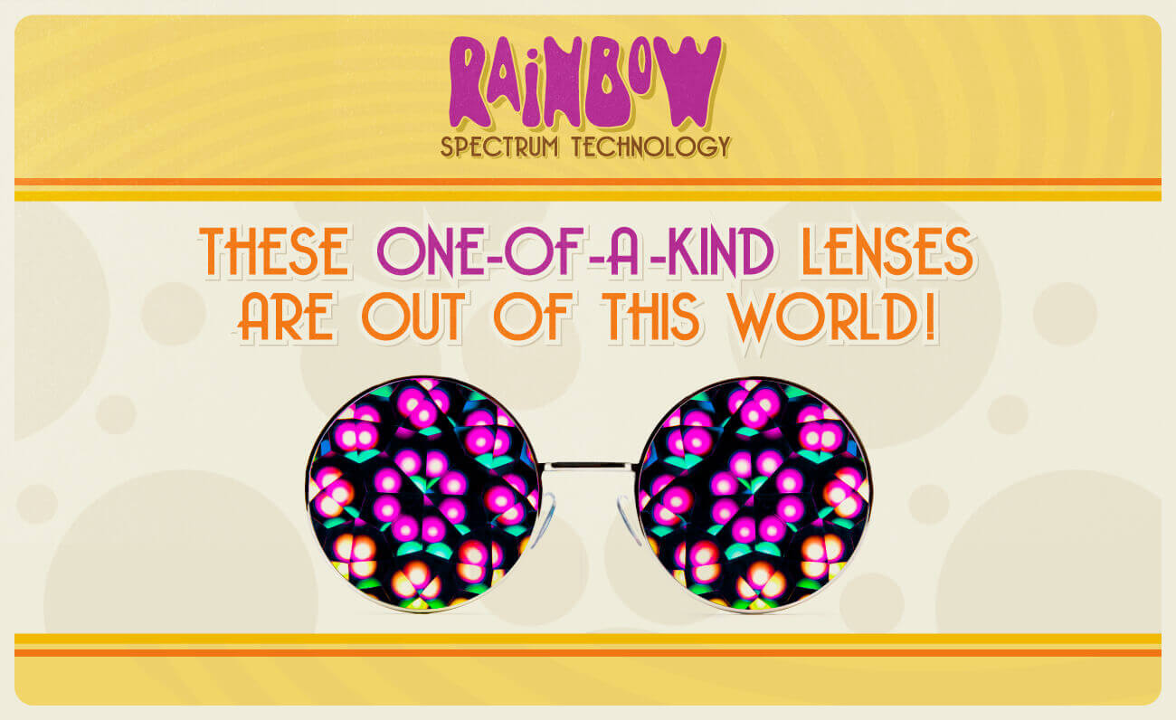 Hippy kaleidoscope glasses