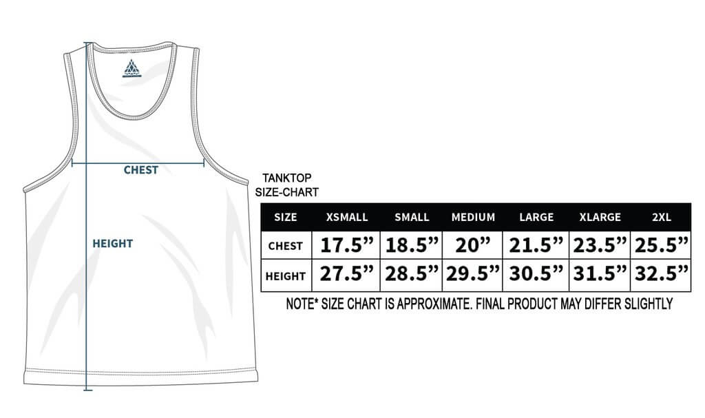 Set4Lyfe Festival Tank Top Sizing